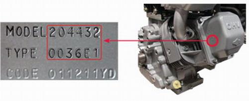 Определение модели двигателя B&S