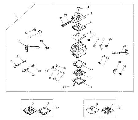 Деталировка на бензопилу (карбюратор) WATT WT-2245 (11.022.045.00)
