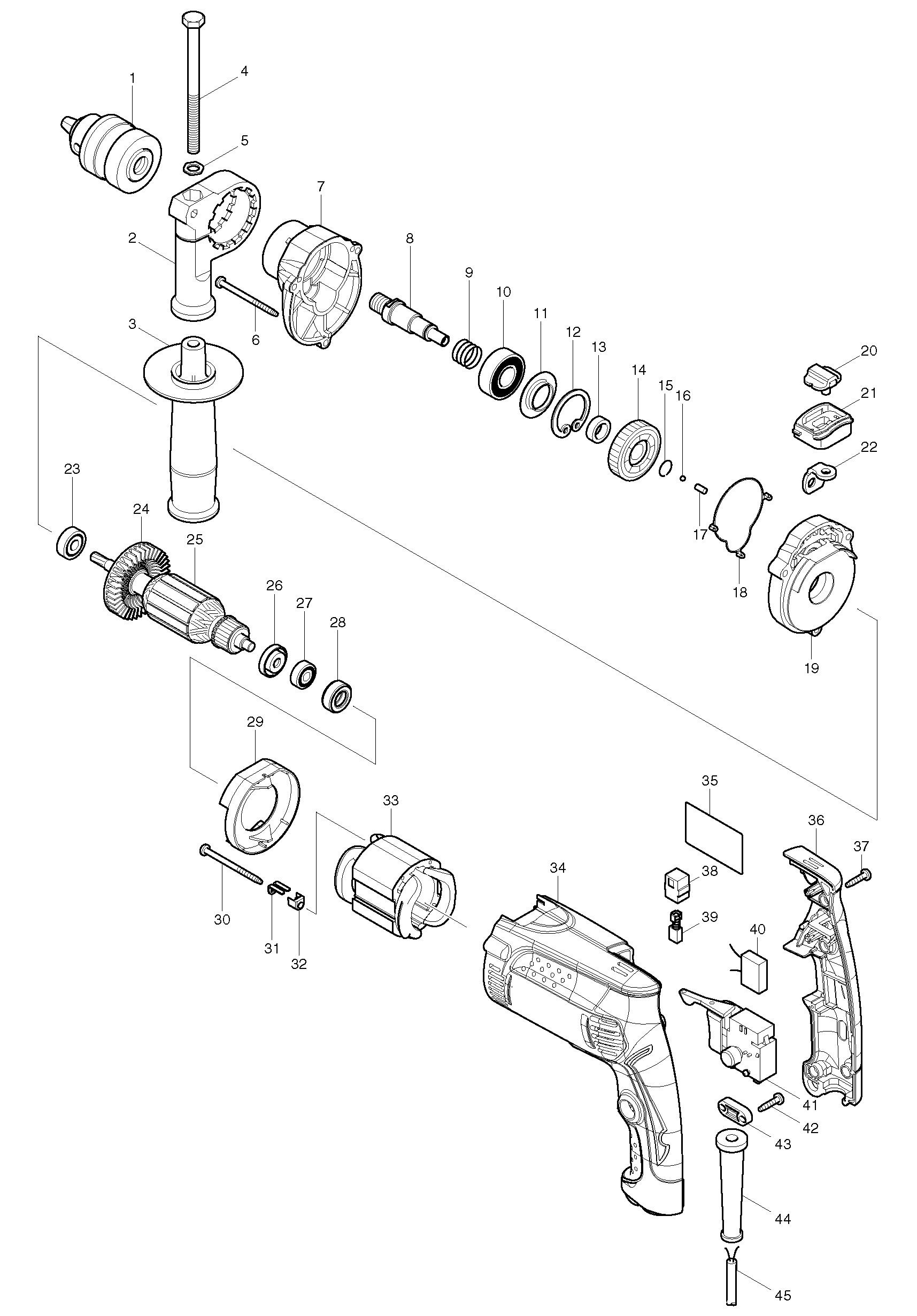 Деталировка на ударную дрель WATT WSM-800 (2.800.013.00)