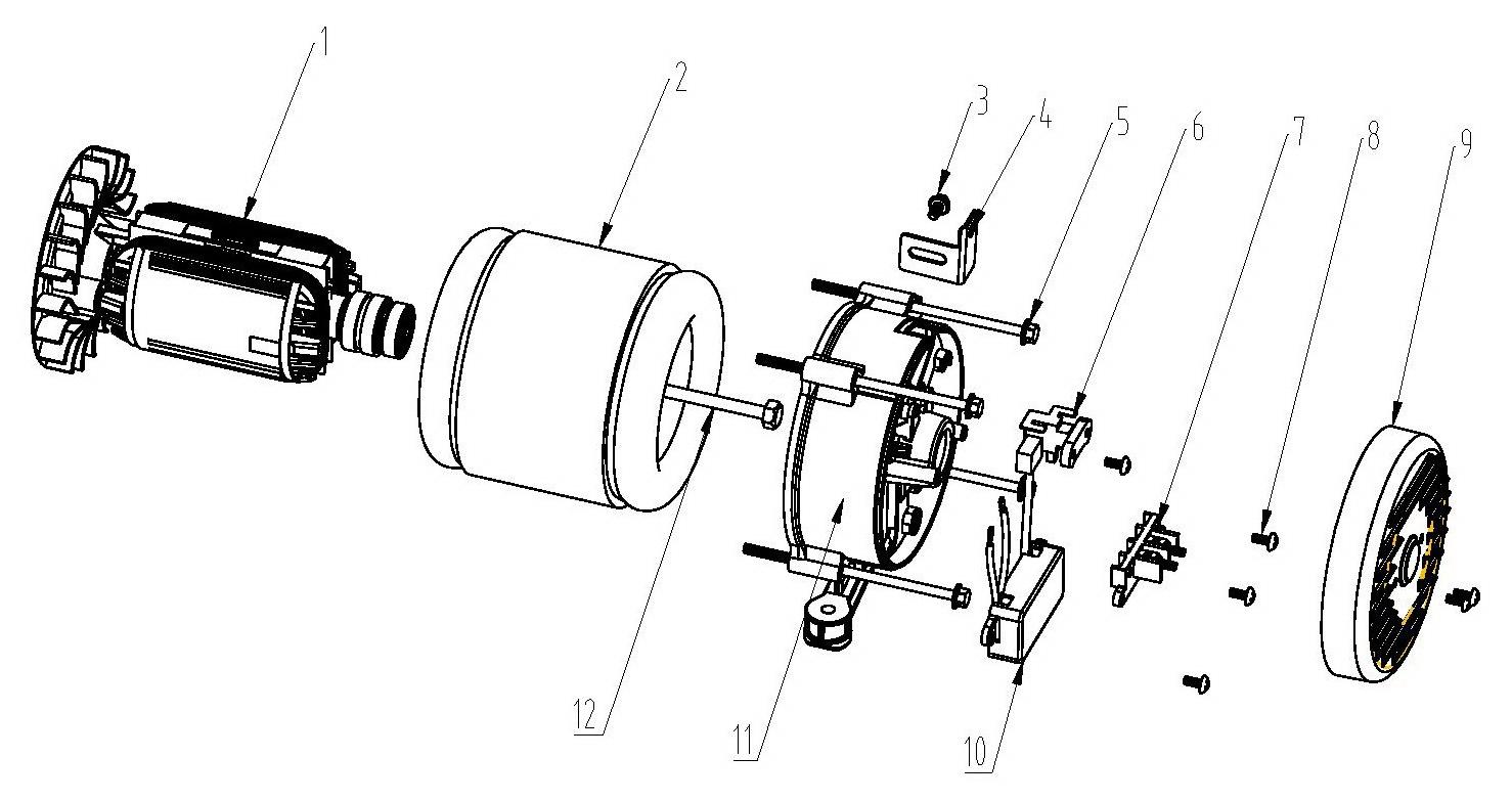 Деталировка на электродвигатель генератора WATT WT-3000 (9.030.015.00)