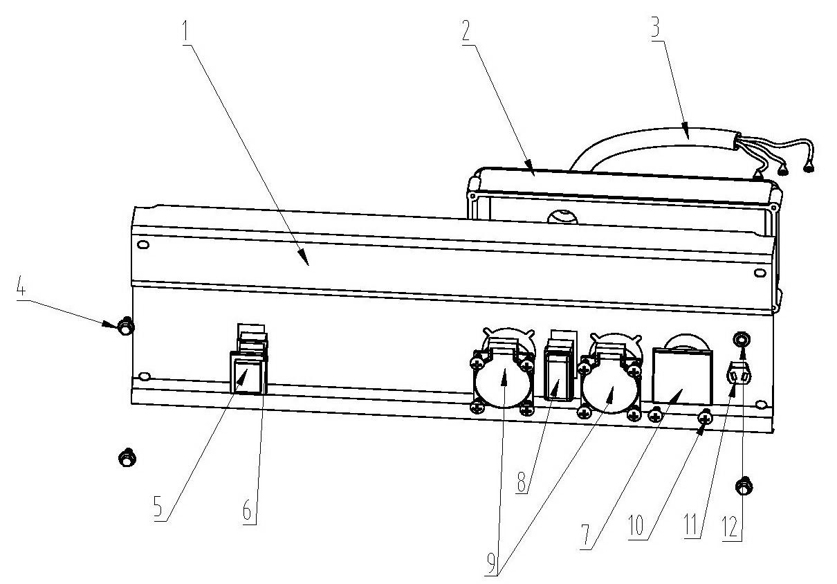 Деталировка на панель управления генератора WATT WT-3000 (9.030.015.00)