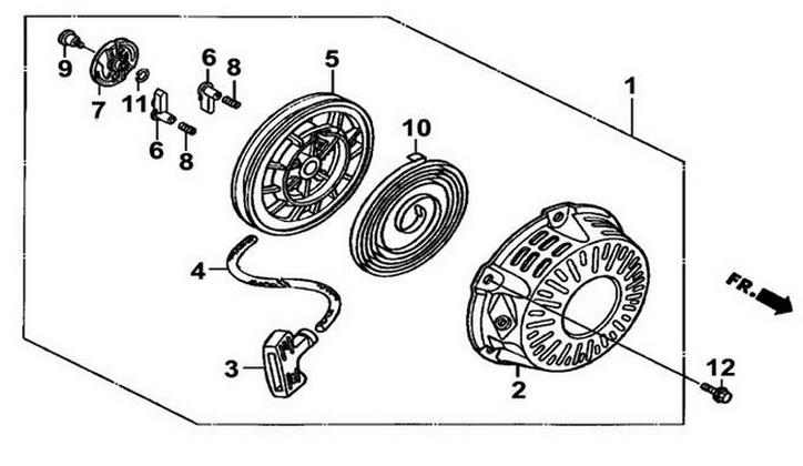 Деталировка на стартер генератора WATT WT-3200 (9.032.015.00)