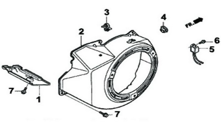 Деталировка на крышку стартера генератора WATT WT-3200 (9.032.015.00)