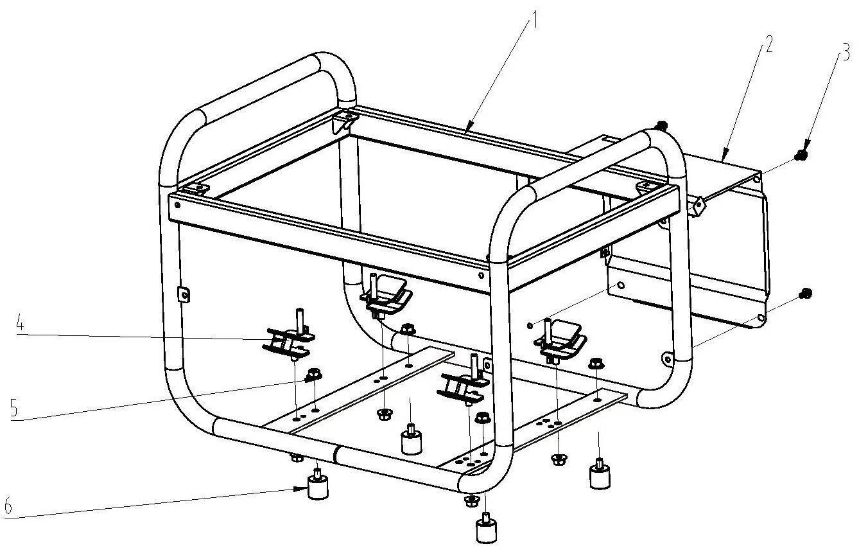 Деталировка на раму генератора WATT WT-4000 (9.040.015.00)