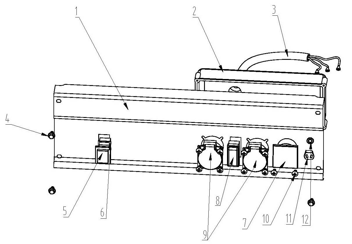 Деталировка на панель управления генератора WATT WT-4000 (9.040.015.00)