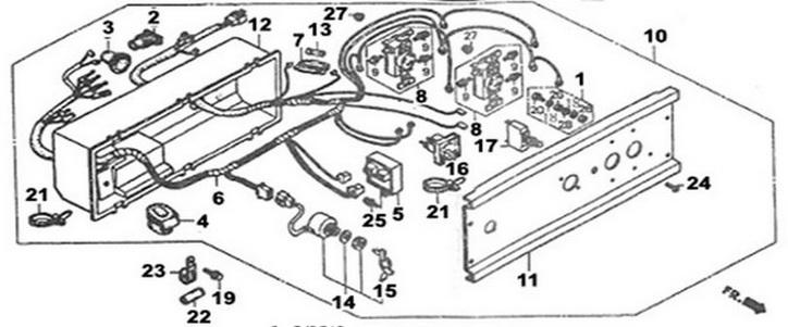 Деталировка на панель управления генератора WATT WT-7000 (9.070.025.01)