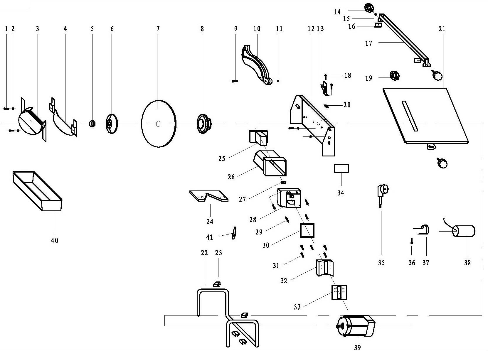 Деталировка на плиткорез WATT WTC-818 (17.800.180.00)