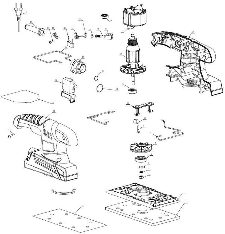 Деталировка на плоскошлифовальную машину WATT WSS-280 (4.280.187.00)