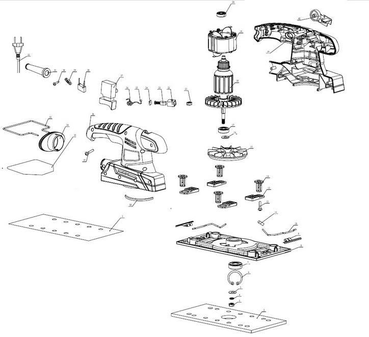 Деталировка на плоскошлифовальную машину WATT WSS-420 (4.420.230.00)