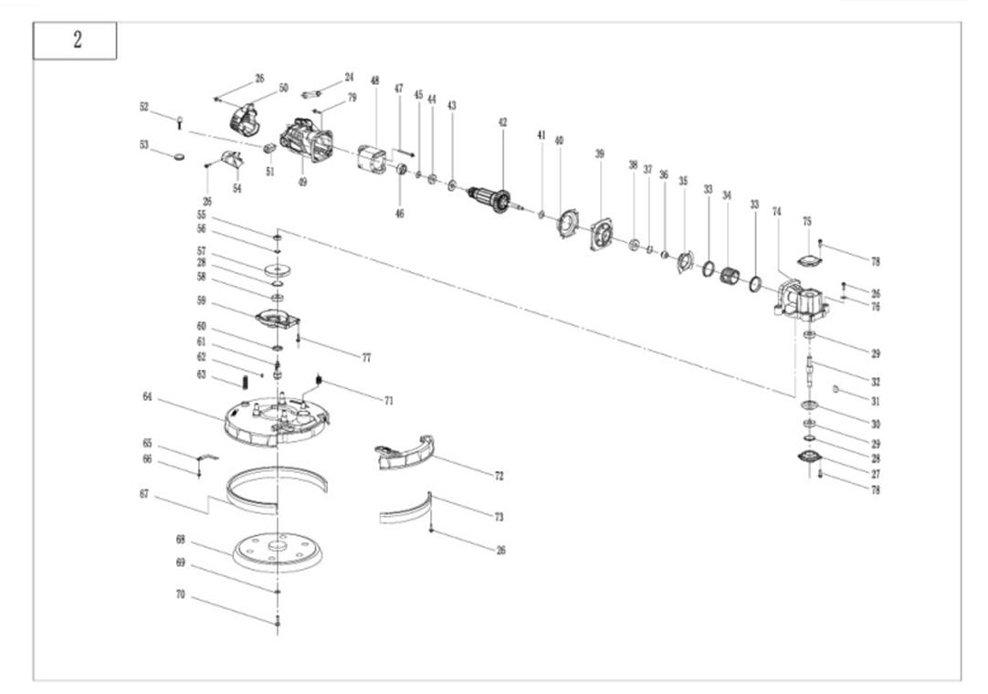 Деталировка на шлифовальную машину для стен и потолков WATT WDW-225 (4.750.225.00)