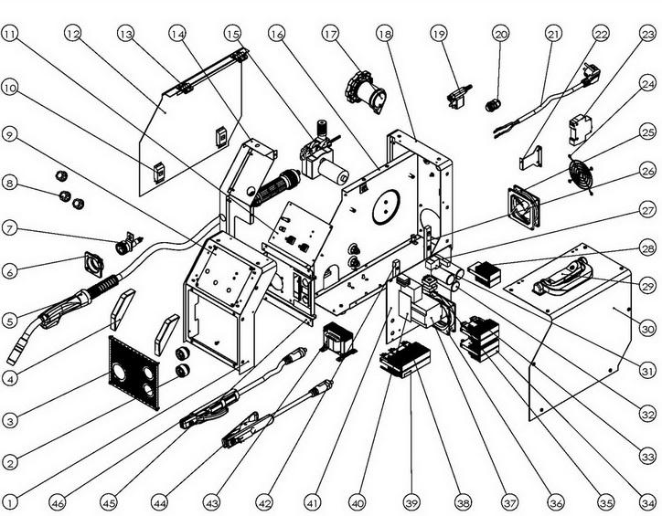 Деталировка на сварочный аппарат WATT COMBIMIG 220 (12.220.010.00)