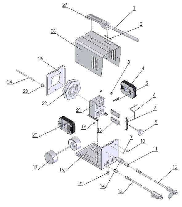 Деталировка на сварочный аппарат WATT AC3200D (9.03.008-2)